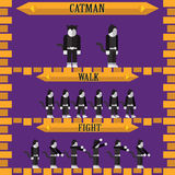 Flat halloween game character for design catman Royalty Free Stock Images