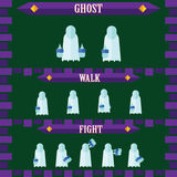 Flat halloween game character for design ghost Stock Photo