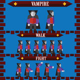 Flat halloween game character for design vampire Stock Images