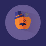 Flat halloween pumpkin gentleman. eps 10 Stock Image