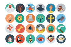 Flat Halloween Vector Icons 2 Royalty Free Stock Photography
