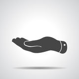 Flat hand icon Stock Photo