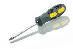 Flat head screwdriver. Royalty Free Stock Images