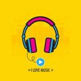 Flat headphones Royalty Free Stock Images