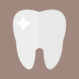 Flat health care dentist tooth icon research medical healthcare concept and medicine instrument hygiene stomatology royalty free illustration