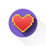 Flat heart icon. Stock Photos