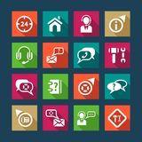Flat help and support icons Stock Photography