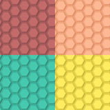 Flat Hexagonal Pattern Stock Photography
