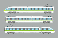 Flat high-speed train isolated vector express railway illustration Royalty Free Stock Image