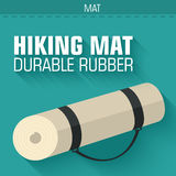 Flat hiking mat concept background vector design Royalty Free Stock Photography
