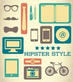 Flat hipster set of web elements Stock Photo