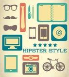 Flat hipster set of web elements. Vector illustration Stock Photo