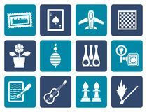 Flat Hobby, Leisure and Holiday objects. Vector Illustration Royalty Free Stock Photography
