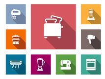 Flat home appliances icons Royalty Free Stock Image