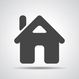 Flat Home Icon Stock Photography