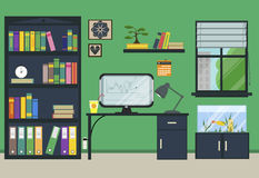 Flat home or office workplace Royalty Free Stock Photos