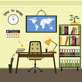 Flat home or office workplace Stock Photos