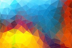 Flat Horizontal Abstract 2D geometric colorful background. For web design Royalty Free Illustration