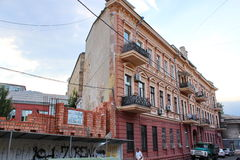 Flat house. One-Wall building in Odessa, Ukraine Royalty Free Stock Photography
