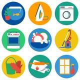 Flat house work icons Stock Image