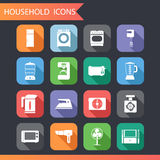 Flat Household Icons and Symbols Set   Royalty Free Stock Images