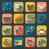 Flat human resource icon. Set of human resource icon Royalty Free Stock Photography