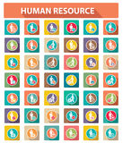 Flat human resource icons. Business concept,colorful version Stock Images