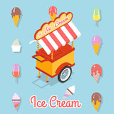 Flat ice cream Stock Images