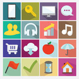 Flat icon. Flat media, business icon collection Stock Photos