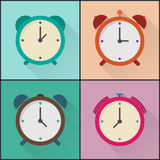 Flat icon alarm design pack Stock Photos