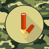 Flat icon ammo,item in camouflage. Format eps10 Royalty Free Stock Photos