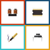Flat Icon Appliance Set Of Destination, Microprocessor, Repair And Other Vector Objects. Also Includes Processor Stock Images