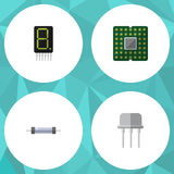 Flat Icon Appliance Set Of Resist Stock Images
