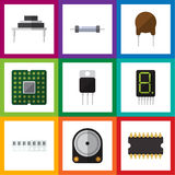 Flat Icon Appliance Set Of Resistor Stock Photography