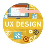 Flat icon or banner for ux design Stock Photo