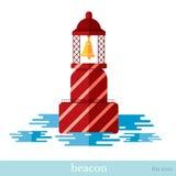 Flat icon beacon Stock Photography