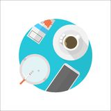 Flat icon for break table Royalty Free Stock Photos