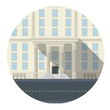 Flat icon for building Royalty Free Stock Photos