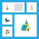 Flat Icon Building Set Of Building, Christian, Architecture And Other Vector Objects. Also Includes Religion, Structure Royalty Free Stock Image