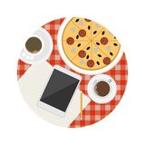 Flat icon for business coffee break table Royalty Free Stock Images