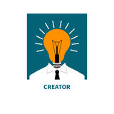 Flat icon business thinking Royalty Free Stock Photography