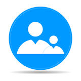 Flat  icon of businessman and child. Flat icon of businessman and child. Vector EPS vector illustration