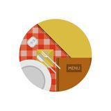 Flat icon for cafe or restaurant Royalty Free Stock Photography