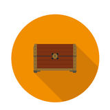 Flat icon chest. Cool flat icon chest in vector format royalty free illustration