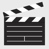 Flat icon clapper board Royalty Free Stock Image