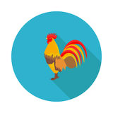 Flat icon cock Stock Photography