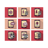 Flat Icon Design Phone Royalty Free Stock Images