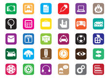 Flat icon design. Thirty flat icons design for desktop icon, web icon, and mobile phone icon Royalty Free Stock Image