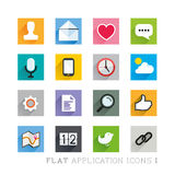 Flat Icon Designs - Applications Royalty Free Stock Photo