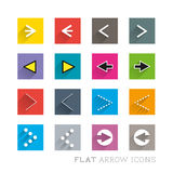 Flat Icon Designs - Arrows Stock Images